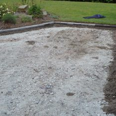 Block paving driveway - all edges are secured with concrete