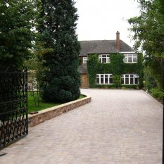 Block paving driveway finished