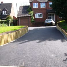 Landscaping and tarmac driveway