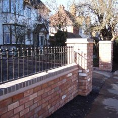 Double wall and railings